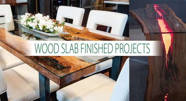 Podocarpus Wood Slab Finished Projects