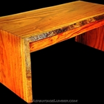 Tigerwood Slab Desk