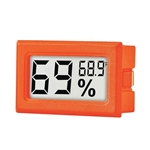 Orange Mini Digital Electronic Temperature Humidity Meter Gauge