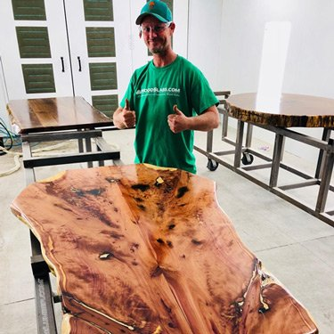 Bookmatched Aromatic Florida Cedar Wood Slabs