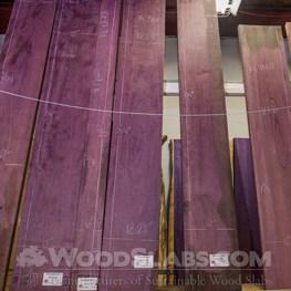 purpleheart wood slab