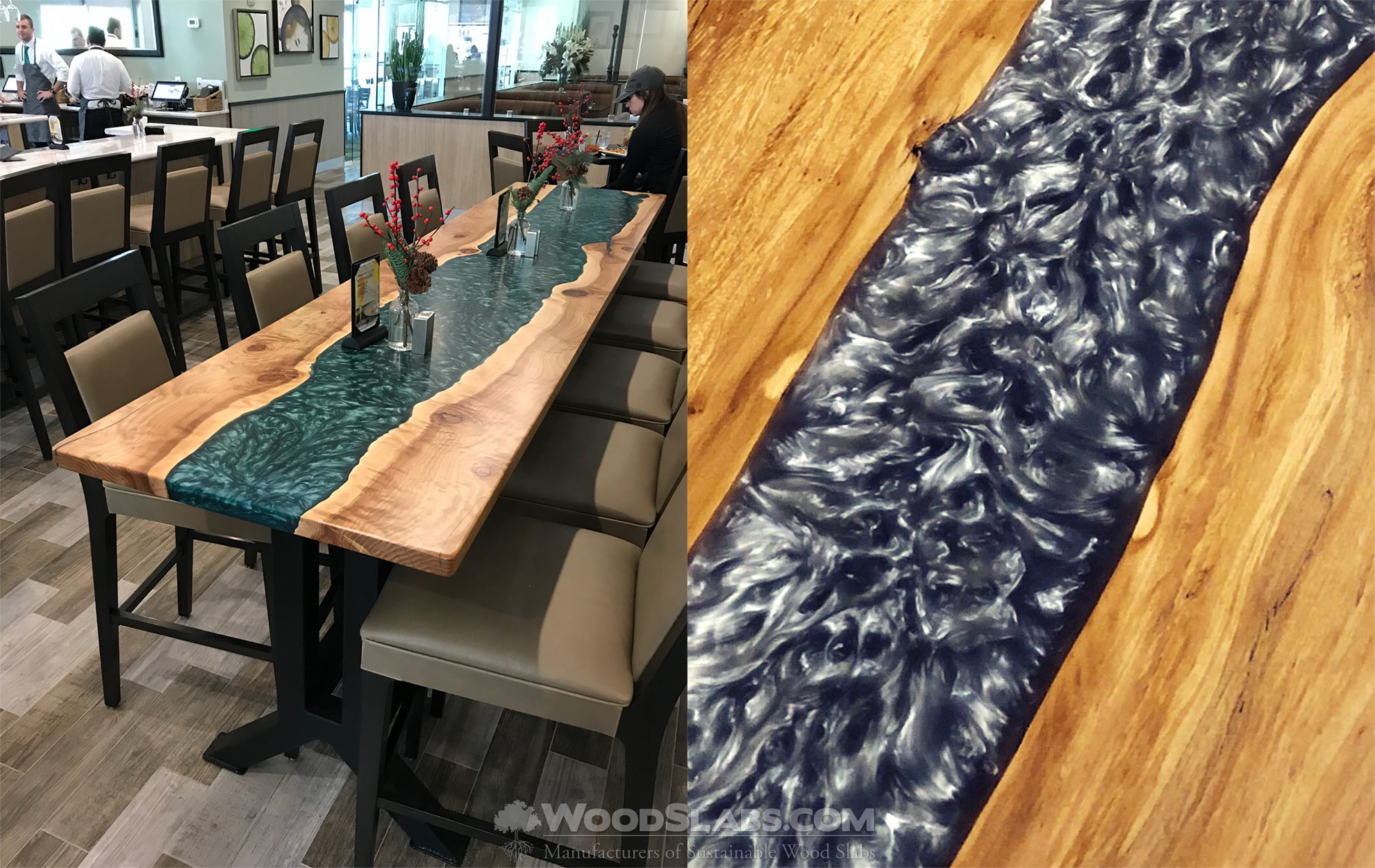 river slab tables