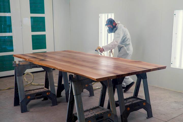Finishing a wood slab